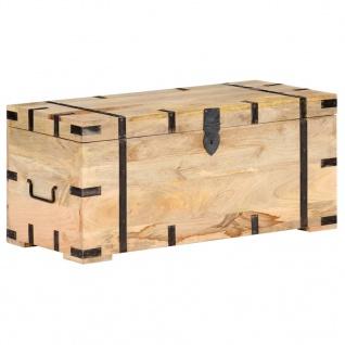 vidaXL Truhe 90x40x40 cm Mango Massivholz