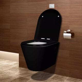 Wand-Hänge WC/Toilette Wandhängend Schwarz