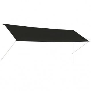vidaXL Einziehbare Markise Anthrazit 400 x 150 cm