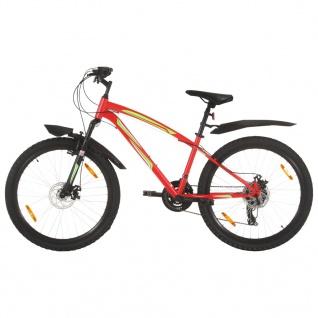 vidaXL Mountainbike 21 Gang 26 Zoll Rad 42 cm Rot