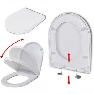 vidaXL Toilettensitz mit Absenkautomatik und Quick-Release Weiß Eckig