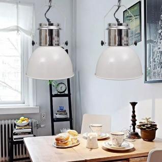 vidaXL Deckenleuchte 2 Stk. Höhenverstellbar Modern Weiß Metall - Vorschau 2