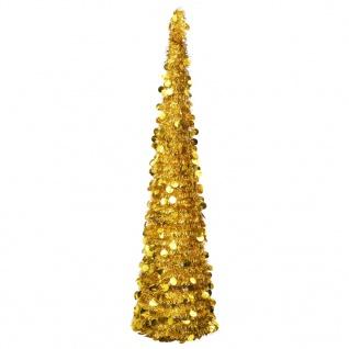 vidaXL Künstlicher Pop-Up-Weihnachtsbaum Golden 180 cm PET
