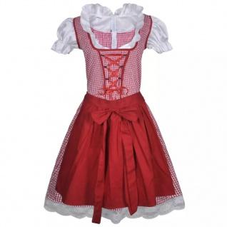 Oktoberfest Dirndl mit Schürze Trachtenkleid Rot M/L