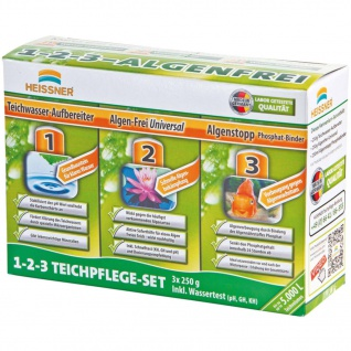 HEISSNER 3-in-1 Teichpflege-Set