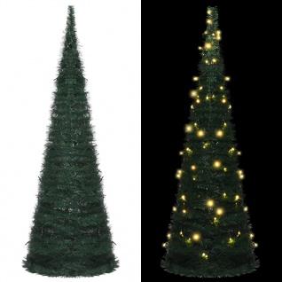 vidaXL Künstlicher Pop-Up-Weihnachtsbaum mit LED Grün 180 cm