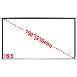 Manuelle Projektionswand Leinwand 200x153cm 4:3 Wand-Deckenhalterung