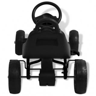 vidaXL Pedal Go-Kart mit Luftreifen Schwarz - Vorschau 5