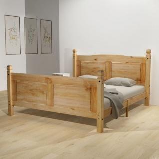 vidaXL Bett mit Matratze Mexikanische Kiefer Corona-Stil 160 x 200 cm