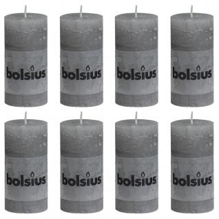 Bolsius Rustikale Stumpenkerzen 8 Stk. 100 x 50 mm Hellgrau