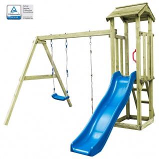 vidaXL Spielturm mit Leiter Rutsche Schaukel 251x242x218 cm Holz