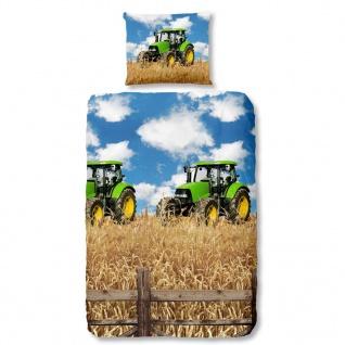 Good Morning Bettwäsche-Set 5604-A FARMER 135 × 200 cm Mehrfarbig