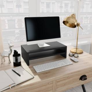 vidaXL Monitorständer Schwarz 42×24×13 cm Spanplatte