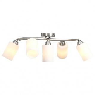 vidaXL Deckenleuchte mit Keramik-Lampenschirmen für 5 E14 Glühlampen