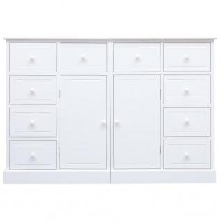 vidaXL Sideboard mit 10 Schubladen Weiß 113 x 30 x 79 cm Holz - Vorschau 4