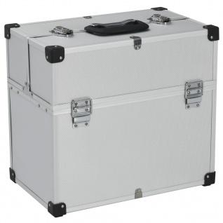 vidaXL Werkzeugkoffer 43, 5 x 22, 5 x 34 cm Silbern Aluminum