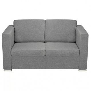 vidaXL 2-Sitzer Sofa Stoff Hellgrau - Vorschau 4