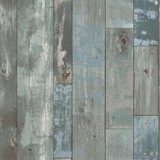 DUTCH WALLCOVERINGS Tapete Holz-Optik Graublau