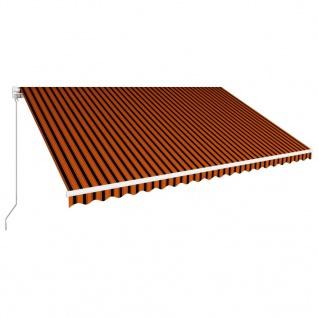 vidaXL Einziehbare Markise Handbetrieben 500 x 300 cm Orange und Braun