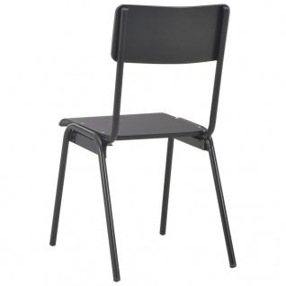 vidaXL Esszimmerstühle 4 Stk. Schwarz Massives Sperrholz Stahl - Vorschau 5