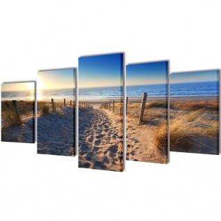 Bilder Dekoration Set Strand 100 x 50 cm