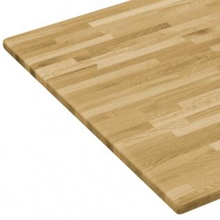 Vidaxl Tischplatte Eichenholz Massiv Rechteckig 23 Mm 100 X 60 Cm