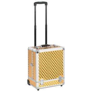 vidaXL Kosmetikkoffer 35×29×45 cm Golden Aluminium