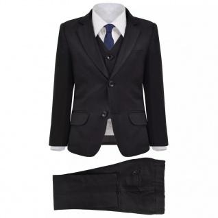 vidaXL Jungen-Anzug 3-tlg. Größe 104/110 Schwarz