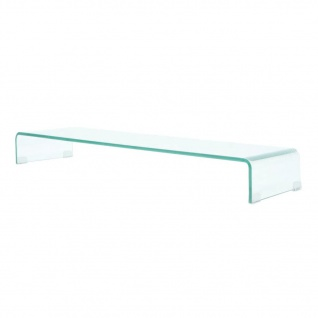vidaXL TV-Tisch/Bildschirmerhöhung Glas Transparent 100x30x13 cm