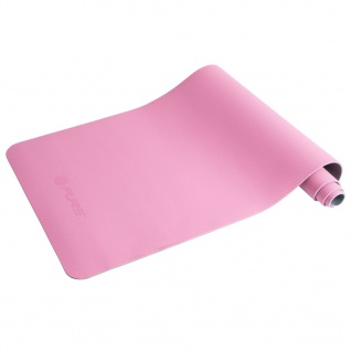 Pure2Improve Yogamatte 173×58×0, 6 cm Rosa und Grau
