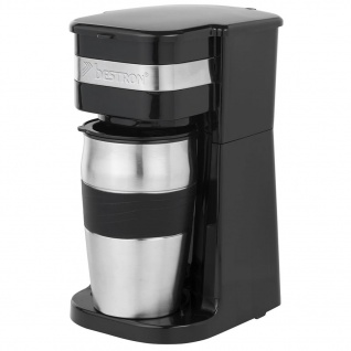 Bestron Kaffeemaschine für Coffee-to-go 750 W 420 ml Schwarz ACM111Z