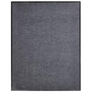 vidaXL Türmatte Grau 160x220 cm PVC