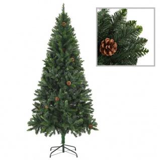 vidaXL Künstlicher Weihnachtsbaum mit Kiefernzapfen Grün 180 cm