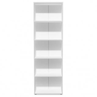 vidaXL Bücherregal Spanplatte 60x31x190 cm Weiß - Vorschau 3