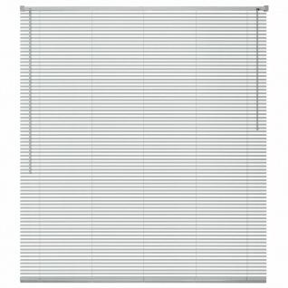vidaXL Fensterjalousien Aluminium 120x130 cm Silber