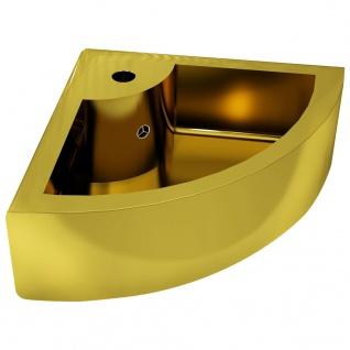 vidaXL Waschbecken mit Überlauf 45 x 32 x 12, 5 cm Keramik Golden