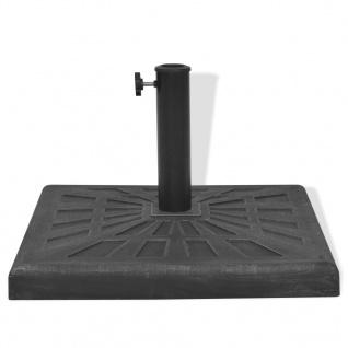 vidaXL Sonnenschirmständer Harz Quadratisch Schwarz 19 kg - Vorschau 5