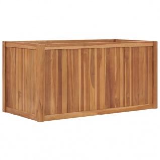 vidaXL Hochbeet 100x50x50 cm Massivholz Teak