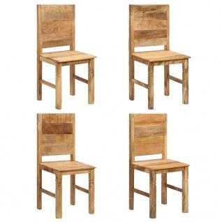 vidaXL Esszimmerstühle 4 Stk. Massivholz Mango