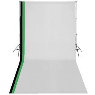 vidaXL Fotostudio Set 3 Baumwolle-Hintergründe Rahmen verstellbar 3x6m