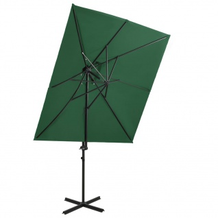 vidaXL Ampelschirm mit Lüftung Grün 250x250 cm