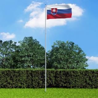 vidaXL Flagge der Slowakei und Mast Aluminium 6 m
