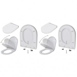 vidaXL Toilettensitze mit Absenkautomatik 2 Stk. Kunststoff Weiß - Vorschau 1