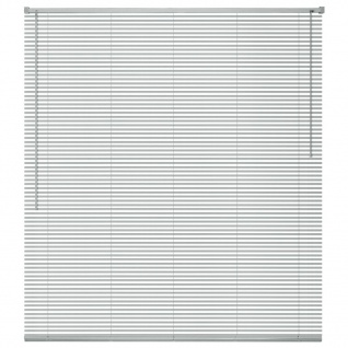 vidaXL Fensterjalousien Aluminium 100x130 cm Silber