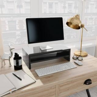 vidaXL Monitorständer Hochglanz-Schwarz 42×24×13 cm Spanplatte