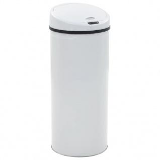 vidaXL Sensor-Mülleimer 62 L Weiß