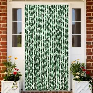 vidaXL Insektenschutz-Vorhang Grün und Weiß 100x220 cm Chenille