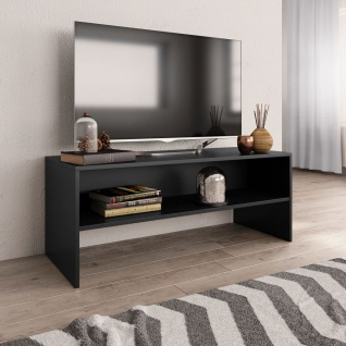 vidaXL TV-Schrank Schwarz 100 x 40 x 40 cm Spanplatte