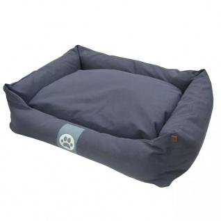 Overseas Hundebett Segeltuch 90x70x22 cm Marineblau