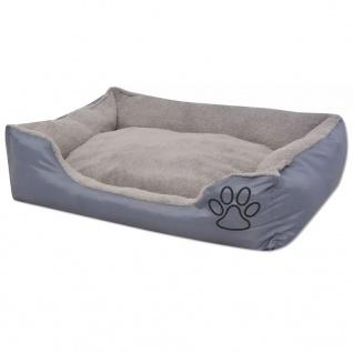 vidaXL Hundebett mit gepolstertem Kissen Größe XXL Grau - Vorschau 2